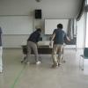 写真:みどり園清掃訓練と学校コーチ、始まる